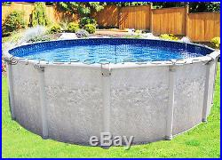 12 Round Above Ground Swimming Pool Kit -7 Wide Top, 40 Year Warranty, 52 High