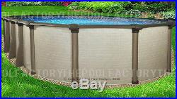 12x24x54 Melenia Oval Above Ground Swimming Pool Package Sleek Oval Design