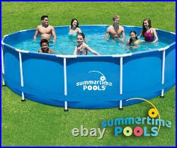 15ft x 48in Metal Frame Above Ground swimming Pool Set with Pump, Cover & Ladder