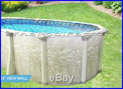15x24 Oval 54 High Above Ground Swimming Pool Package Sleek Oval Design
