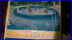 16' x 42 Quick Set Above Ground Swimming Pool Easy w Filter Pump 16 foot round