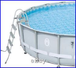 16' x 48 Power Steel Frame Above Ground Swimming Pool Cover Set Filter Pump New