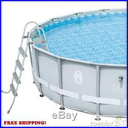 18' x 48 Power Steel Frame Above-Ground Swimming Pool Set Coleman NEW