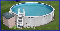 18x4 Steel Wall Above Ground Swimming Pool Pump Filter Ladder Solar Winter Cover