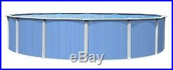 24' Foot ROUND Blue Vista 52 Inch Steel Wall Above Ground Swimming Pool 30 Yr