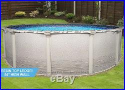 24 Round 54 High Signature Resin Ledge Above Ground Swimming Pool Package