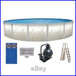 24'x52 Whispering Springs Above Ground Pool with Unibead Liner Ladder & Filter