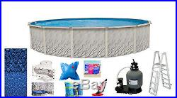 27'x52 Round MEADOWS Above Ground Swimming Pool & Liner & Kit-30 Year Warranty