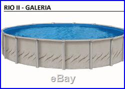 27' x 52 Round Above Ground Swimming Pool Deluxe Package 30 Year Warranty