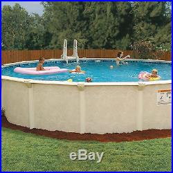 52 Inch Deep Round Outdoor Pool Set Package Above Ground Metal Frame Swim Water