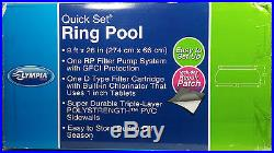9' Swimming Pool Complete with Filter and Chlorinator by Olympia Quick Setup