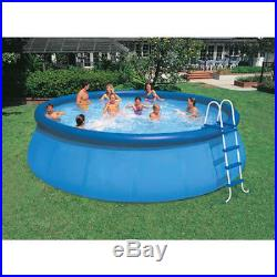 Above Ground 18x48 Family Swimming Pool Outdoor Intex Easy Set Round Ladder Blue