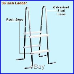 Above Ground Pool Metal Wall 18 Feet Round Home Swimming Spa Water Pump Ladder