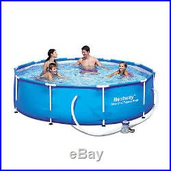 Above Ground Pool Round 120.47 Deep Steel Outdoor Swimming New Frame Pool Set
