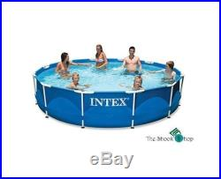 Above Ground Pools Intex Frame Swimming Pool Metal Family Size with Pump Outdoor