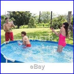 Above Ground Round Swimming Pool Set 12 X 30 Metal Frame Pump Filter Included