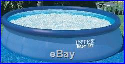 Above Ground Swimming Pool Easy Set Round Intex12-Ft by 30-Inch with Filter Pump