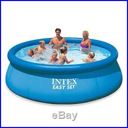 Above Ground Swimming Pool Intex 12ft X 30in Inflatable Round Easy Family Set