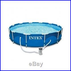 Above Ground Swimming Pool Set Metal Frame Filter Pump Intex NEW 12ft x 30in