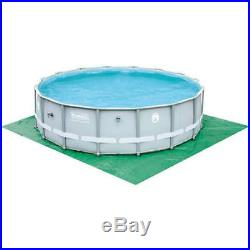 Above Ground Swimming Pool Set with Ladder Coleman 16' x 48 Round Steel Frame