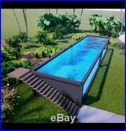 Above ground Custom Shipping Container Style Swimming Pool