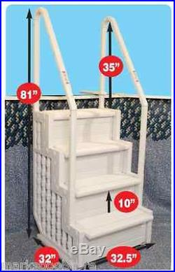 BLUE WAVE EASY POOL STEP LADDER ABOVE GROUND SWIMMING POOLS EXIT SYSTEM