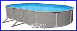 Belize 15'X30' Oval 52 Steel Above Ground Swimming Pool