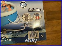 Bestway 10ft x 30in Fast Set Pool NEW with filter and pump