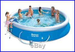 Bestway 15' x 36 Fast Set Swimming Pool Set Inflatable Ring with Pump & More