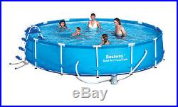 Bestway 15' x 36 Steel Pro Frame Above Ground Swimming Pool Set- Open Box