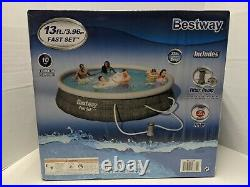 Bestway Pool Fast Set Swimming Pool 13 Outdoor Pool With Filter and Filter Pump