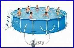 Bestway Steel Pro Max 14ft x 42in Frame Above Ground Complete Swimming Pool Set