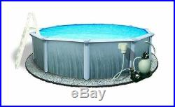 Blue Wave Martinique 15 ft. Round x 52 in. Deep Metal Wall Above Ground Pool
