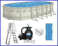 Brazil 16' x 26' x 52 Oval Above Ground Swimming Pool Premium Package