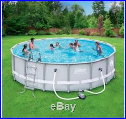 Coleman 16' X 48 Power Steel Frame Above-Ground Swimming Pool Set