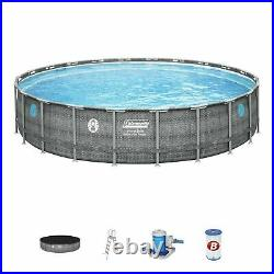 Coleman 22'x52 Power Steel Swimming Pool Set with Pump, Ladder & Cover BRAND NEW