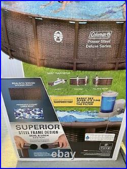Coleman Deluxe18ft 18x48 Above Ground Swimming Pool