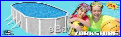 Dig Deep Oval 15' x 24' x 72 Above Ground Steel Complete Swimming Pool Package