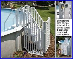 Easy Pool Complete Stair Step Entry System withGate for Above Ground Swimming Pool