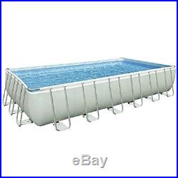 Frame Pool Set 24 x 12-Ft 52-In Deep Filter Pump Ladder Debris Cover Volleyball