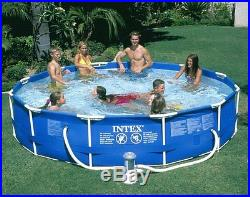 INTEX 12 x 30 Metal Frame Set Swimming Pool with Filter Pump 28211EH Open Box