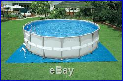 INTEX 16' x 48 Ultra Frame Swimming Pool Set with Sand Filter Pump Open Box