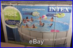 INTEX 18' x 52 Ultra Frame Swimming Pool Set with Sand Filter Pump Open Box