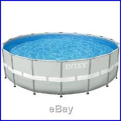 INTEX 18' x 52 Ultra Frame Swimming Pool Set with Sand Pump & Saltwater System