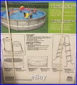 INTEX 20' x 52 Ultra Frame Swimming Pool Set with Sand Filter Pump