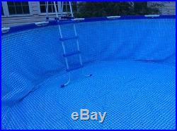 INTEX ABOVE GROUND POOL ROUND WITH METAL FRAME 15 x 48 PUMP & CHEMICALS