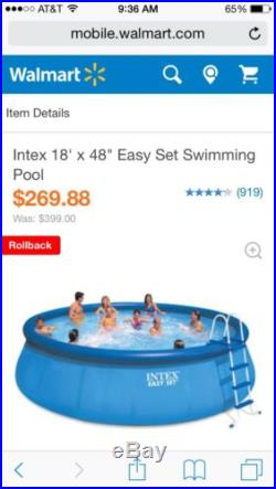 Low price above ground pools blog archive intex easy Intex 18 x 48 easy set swimming pool