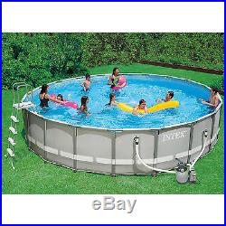 Low price above ground pools blog archive intex large for Largest round above ground pool
