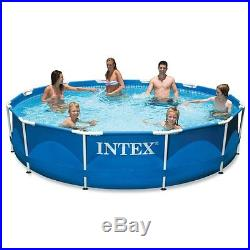 Intex12ft X 30in Metal Frame Pool Set withPVC laminated wall with clear cartridge
