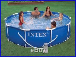 Intex 10' x 30 Metal Frame Set Swimming Pool with Filter Pump 28201EH Open Box